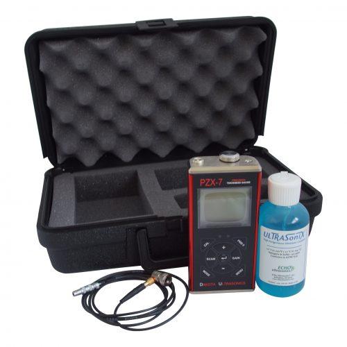 Ultrasoon-Benelux NDT-Dakota PZX-7 diktemeter voor dun materiaal